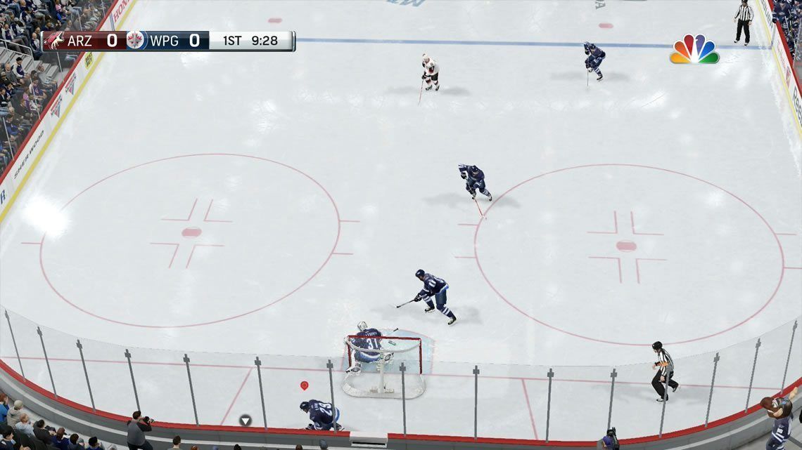 NHL 17 Dynamic High view sample in the defensive zone