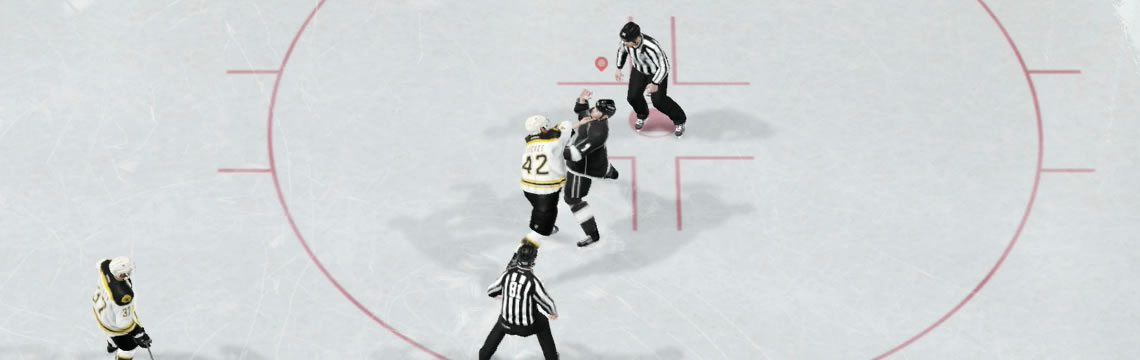Dodging a punch in an NHL 19 fight