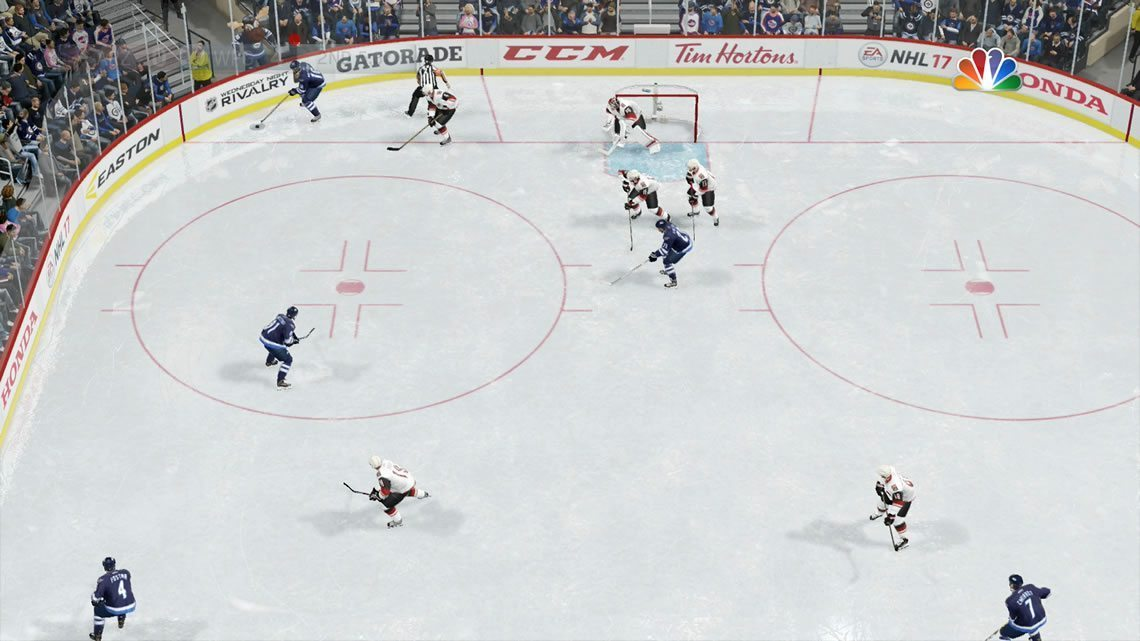 NHL 17 Ice Camera view from the offensive zone
