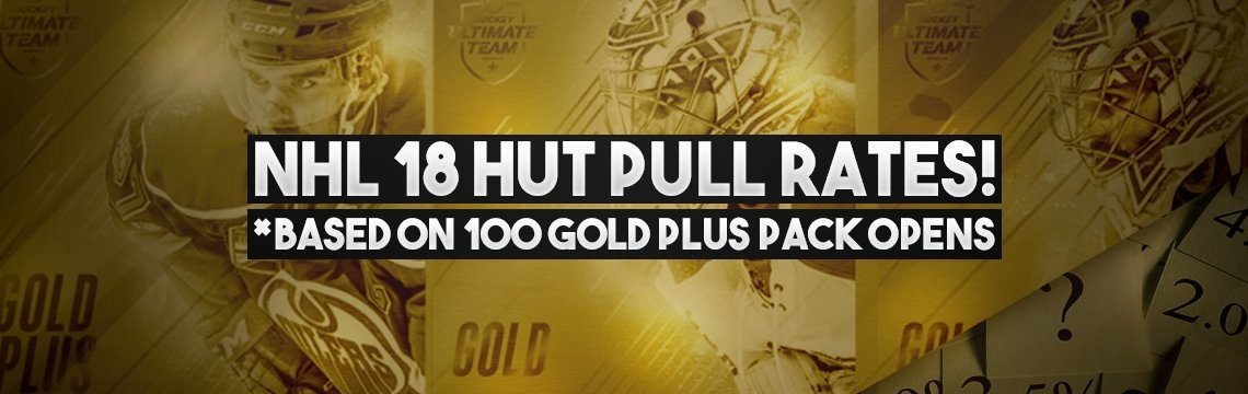 NHL 18 HUT Gold Plus Pack Pull Rates! Based on 100 Packs